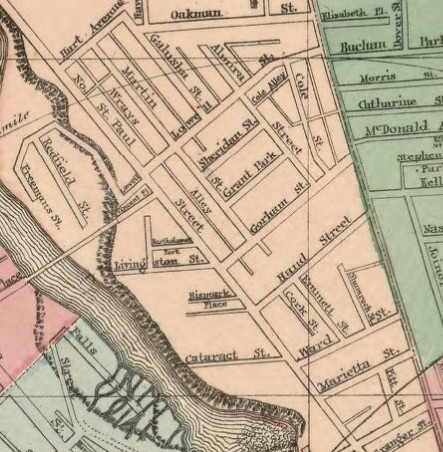 Map of the city of Rochester, 1879 wards