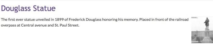 Omeka Douglass Statue